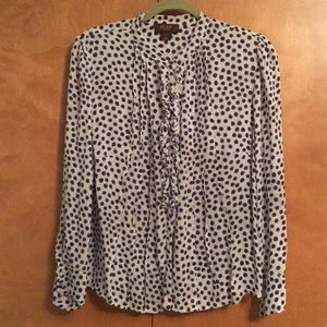Tops - Silk dotted blouse